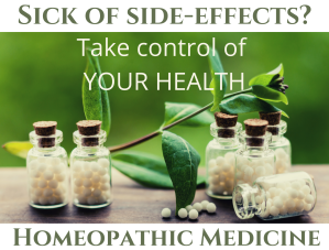 Take control of your health with Homeopathy.