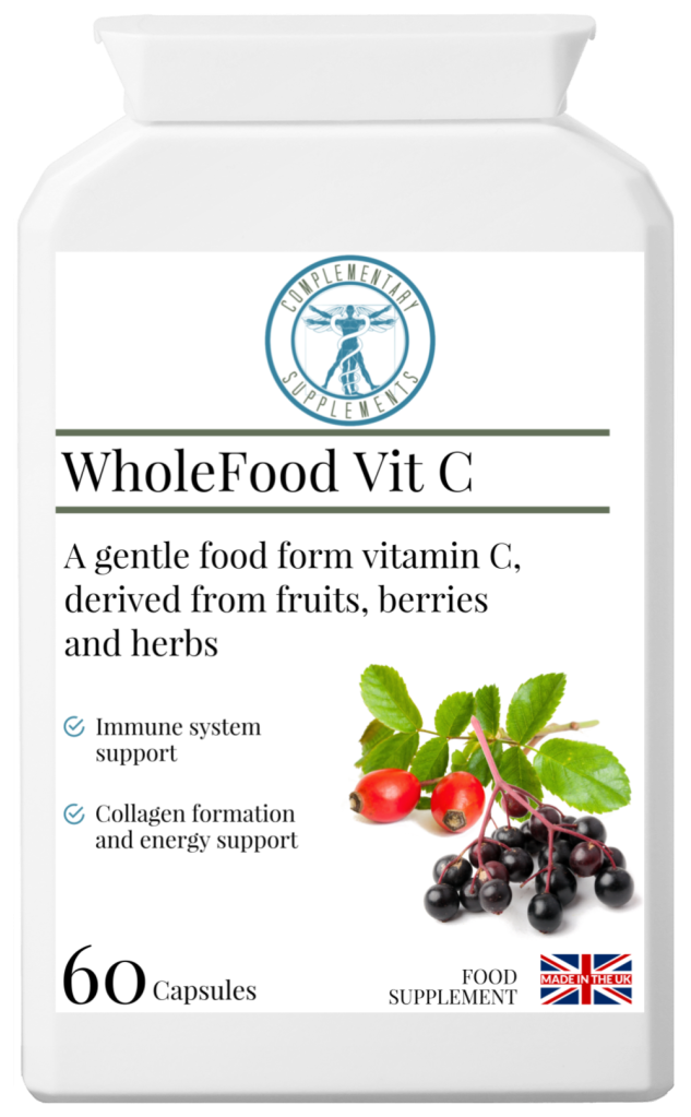 Natural food form vitamin c elderberry rosehip